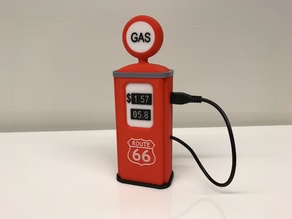 Vintage Gas Pump phone charger