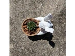 Split Dual-Color Easter Bunny Toy/Pot/Planter