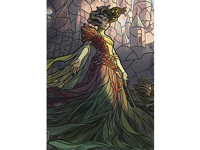 Vraska, Swarm Eminence - stained glass - litho