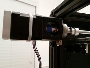 NEMA 17 motor mount for 2020 open beam and KP08 bearing