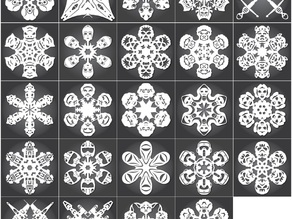 Star Wars Snowflakes by Anthony Herrera - 2012