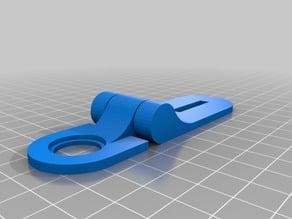 Latch lock for cardboard (makedo)