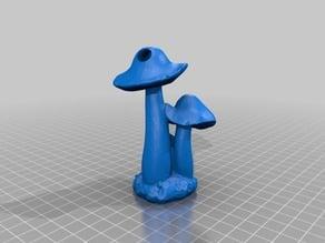 Mushroom keyring
