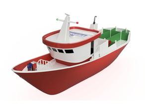 Fishing vessel. Puse-seiner with TEPSA boards. Barco pesquero con tablas TEPSA.