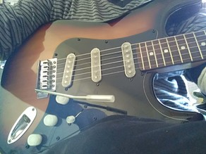 whammy bar, vibrato bar, tremolo arm, electric guitar