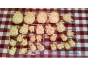 Totoro, Chu, & Chibi Cookie Cutters