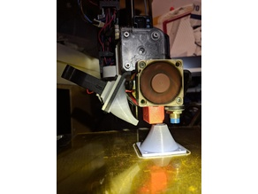 Printrbot Simple Metal E3D Titan + Volcano fan shroud