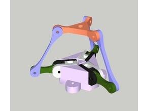 Delta frame for SAM servomotor