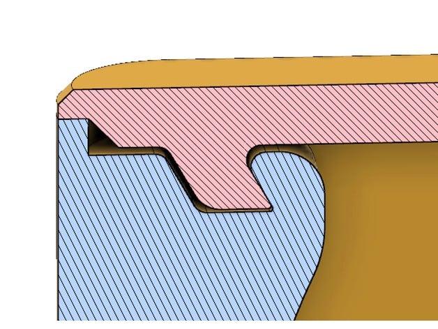 An angled lock