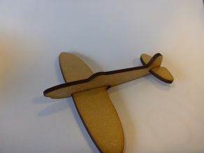 Lasercut mini Spitfire