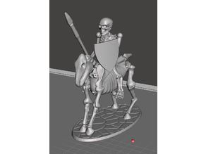 28mm Skeleton Warrior Light Cavalry with Spear & Shield