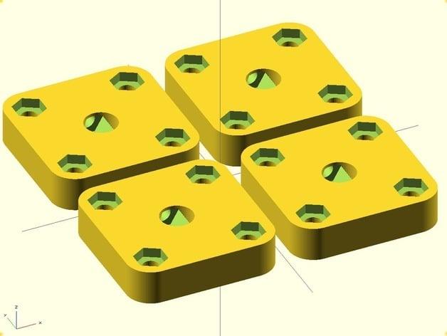 Minimalistic X-rod mount (beefier)