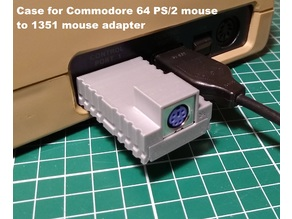 Case for Commodore 64 PS/2 mouse to 1351 mouse adapter