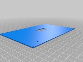 """Cover plate for 7"""" OpenVario housing by SteFly"""