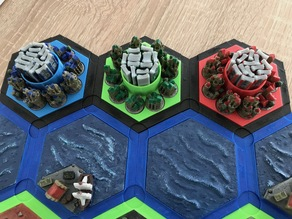 Catan player stand for catan-style boardgame 2.0