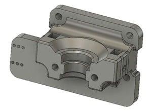 Tronxy X5S modular e3D V6 mount linear mod