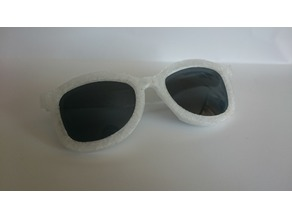 Sunglasses transparent frame