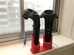 Dual HTC Vive Wand Charging Stand (Blue wirststrap edition)