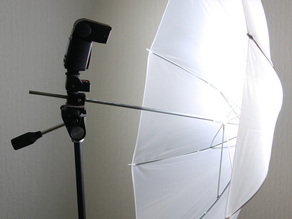 Camera Flash & Umbrella Holder with Tripod thread