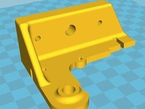 Prusa I3 steel gregs bowden extruder holder