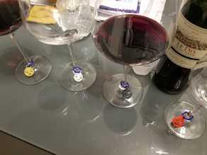 wine glass emoji charm