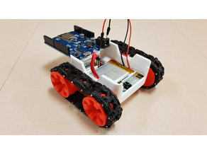 SMARS robot with USB rechargeable battery