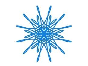 Parametric curvy snowflake