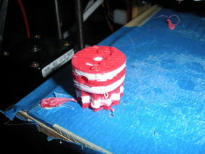 Holiday Prusa Mendel - Day 21 (nicer candy cane)