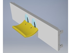 PC front slot headset holder (Donald Duck and Perry the Platypus)