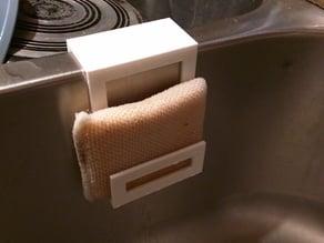 Sponge Holder for Double Sink