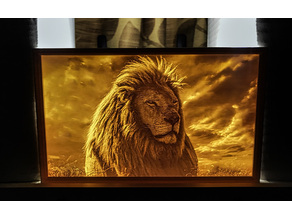 Lion lithophane