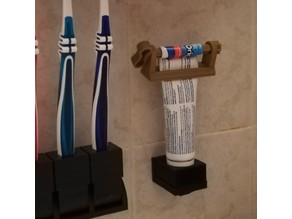 Toothpaste-holder with swappable insert