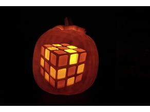 Rubik's Cube Pumpkin