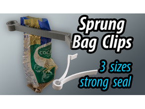 Sprung Bag Clips - 3 sizes