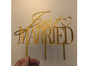Just Married Cake Topper remixed (stronger picks & mirrored)