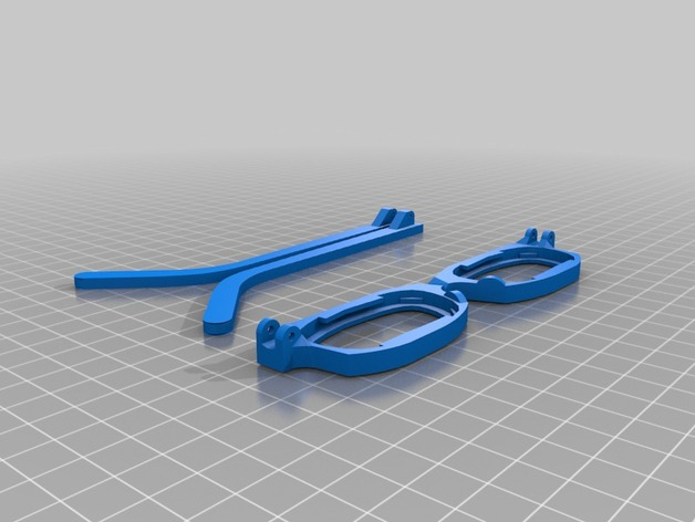 7c36a079e10 Glasses Frames for Existing Lenses by crumpled - Thingiverse