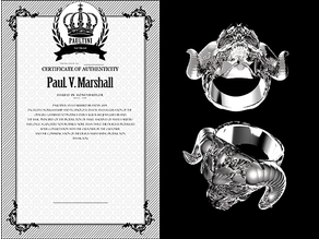 [ 2017 PAULTINI ] : Ring : Remix ; skull : 666 : Diabolos