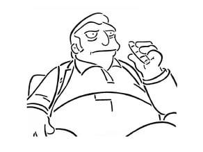 Fat Tony stencil