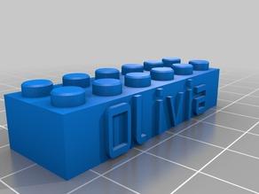 My Customized Lego Block - Olivia