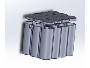 12V Motorcycle starter battery, 12S Lithium 26650 cell, hard case