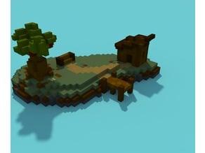 Voxel island