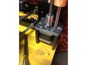 fixed/registrable Z motor support for TRONXY X8 (Supporto Motore Z)