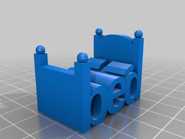 The Word Bed That Looks Like A Bed By 3redsons Thingiverse