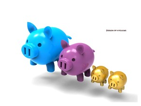 Golden pig family