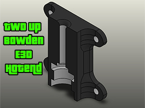 Bowden E3D Hotend Mount For Two/One UP