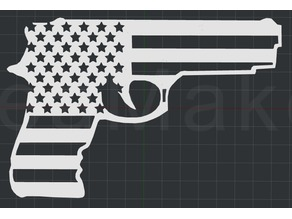 USA Gun! 2D Wall Art