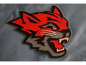 Chico State Wildcat Logo 4 Color