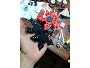 Shuriken Ninja Fidget Spinner Five sharps with 6mm softair metal sphere 608 bearing