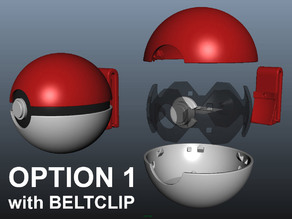 PokeBall with Belt Clip