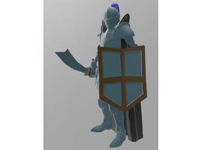 Runescape Player in Rune Armour and 99 cape